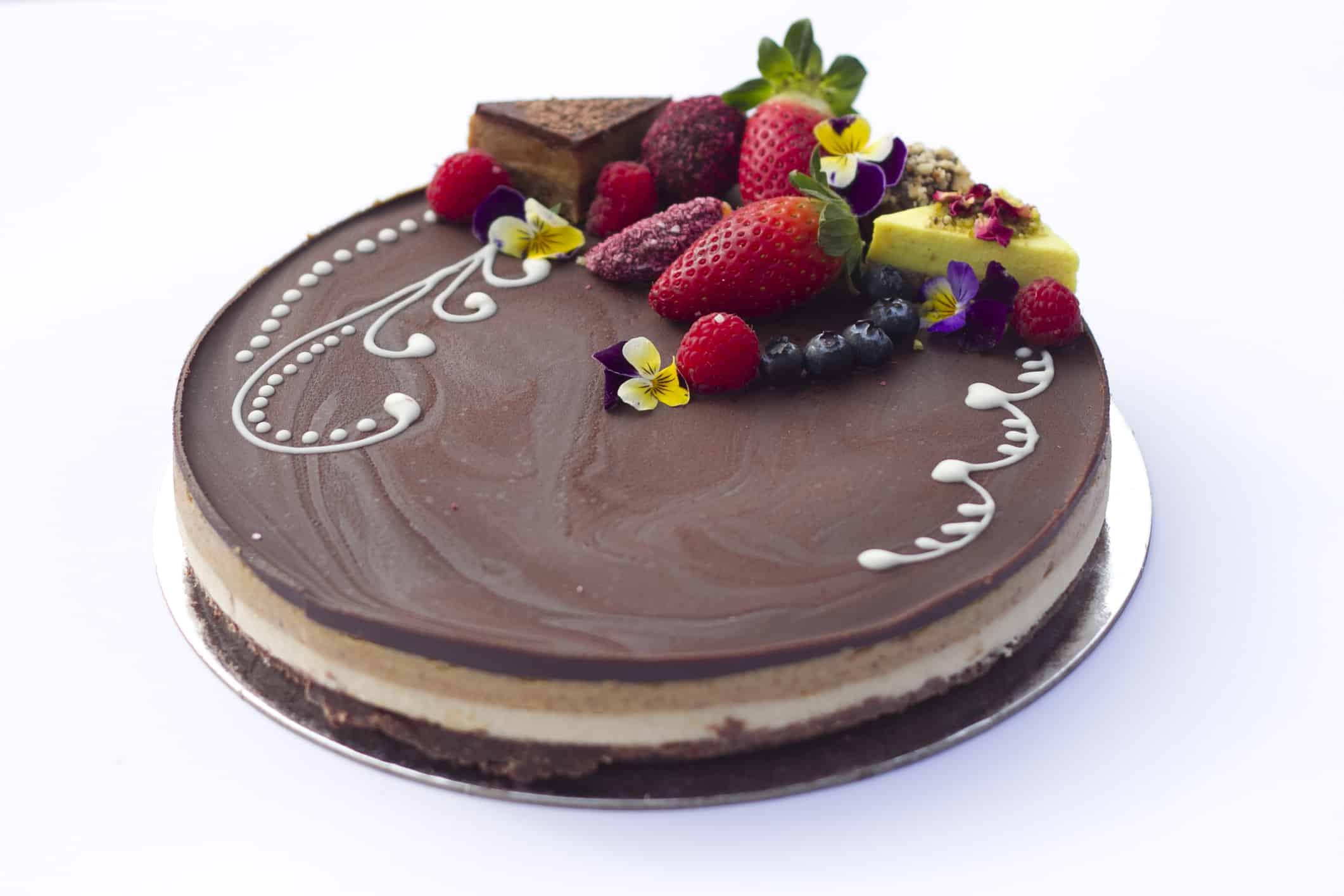 Vegan Snickers Cake Gluten Free Dairy Free Raw Passion Sydney