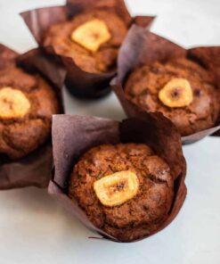 Banana vegan muffins
